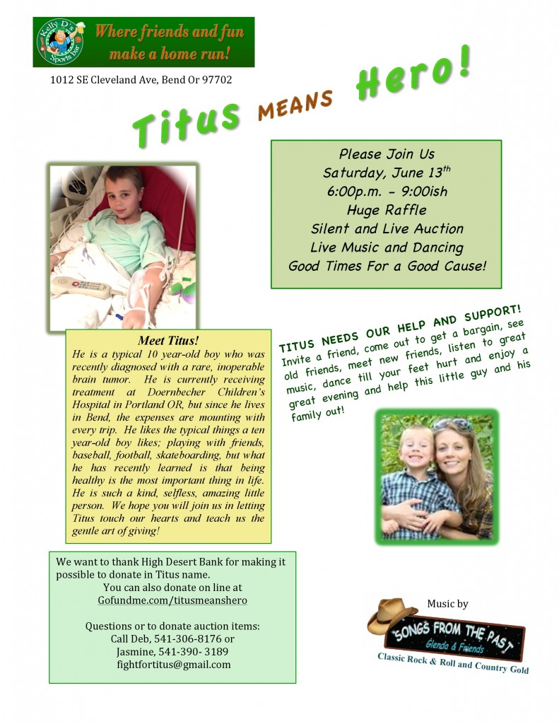 Titus Fausette Fund Raiser flyer. -page-0