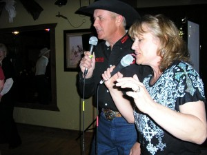 Doug and Kathy singing good